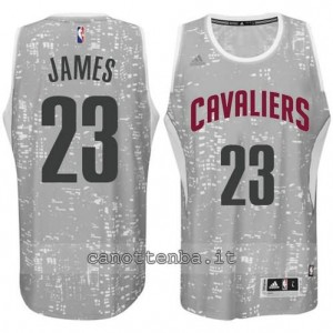 canotta LeBron james #23 cleveland cavaliers lights grigio
