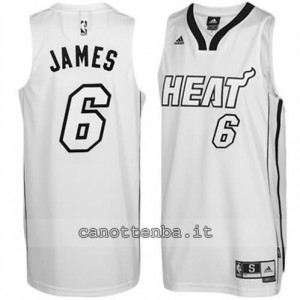 canotta LeBron james #6 miami heat whiteout