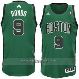 canotta alternato rajon rondo #9 boston celtics verde