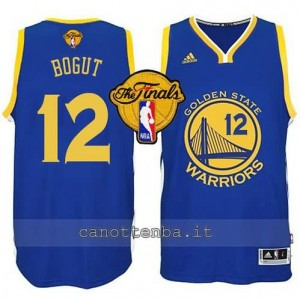 canotta andrew bogut #12 golden state warriors finale 2015 blu