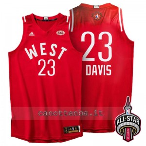 canotta anthony davis #23 nba all star 2016 rosso