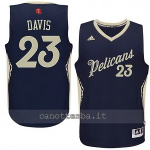 canotta anthony davis #23 new orleans pelicans natale 2015 blu