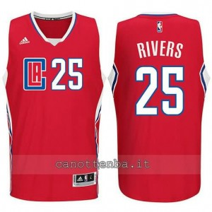 canotta austin rivers #25 los angeles clippers 2015-2016 rosso