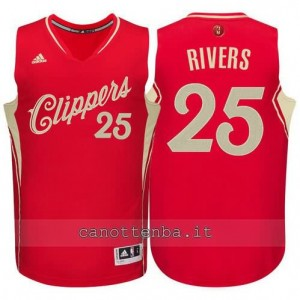 canotta austin rivers #25 los angeles clippers natale 2015 rosso