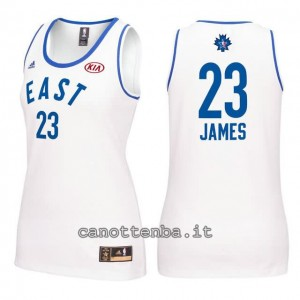 canotta nba donna all star 2016 lebron james #23 bianca