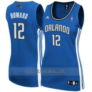 canotta nba donna orlando magic dwight howard #12 blu