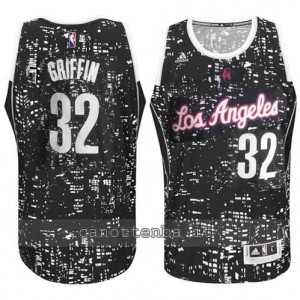 canotta blake griffin #32 los angeles clippers lights nero