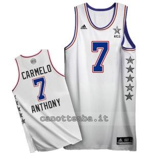 canotta carmelo anthony #7 nba all star 2015 bianca