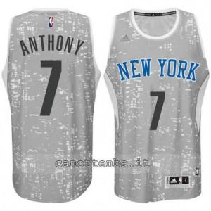 canotta carmelo anthony #7 new york knicks lights grigio