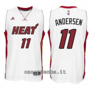 canotta chris andersen #11 miami heat 2014-2015 bianca