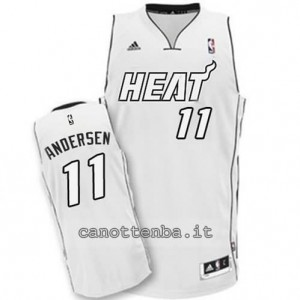 canotta chris andersen #11 miami heat whiteout