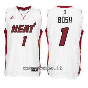 canotta chris bosh #1 miami heat 2014-2015 bianca