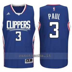 canotta chris paul #3 los angeles clippers 2015-2016 blu