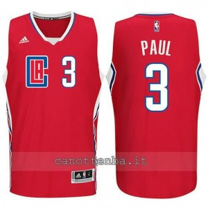 canotta chris paul #3 los angeles clippers 2015-2016 rosso