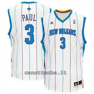 canotta chris paul #3 new orleans hornets revolution 30 bianca