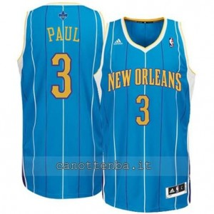 canotta chris paul #3 new orleans hornets revolution 30 blu
