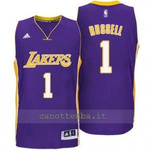 canotta d'angelo russell #1 los angeles lakers 2014-2015 porpora