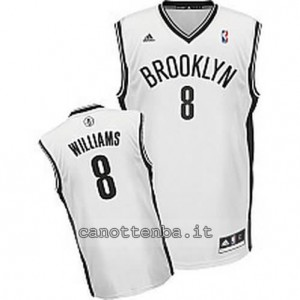 canotta deron williams #8 brooklyn nets revolution 30 bianca