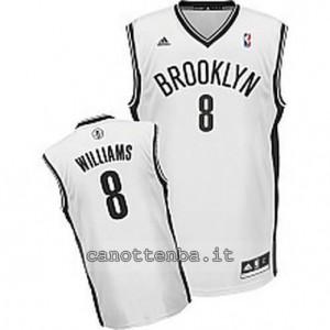 canotta deron williams #8 brooklyn nets revolution 30 bianca