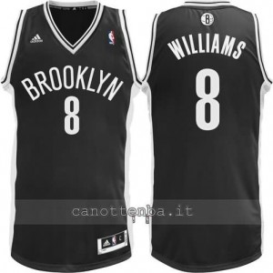 canotta deron williams #8 brooklyn nets revolution 30 nero
