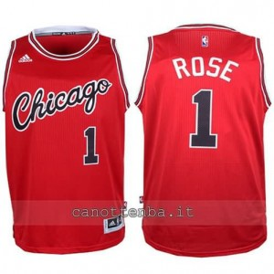 canotta derrick rose #1 chicago bulls 2015-2016 rosso