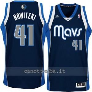 canotta dirk nowitzki #41 dallas mavericks revolution 30 blu