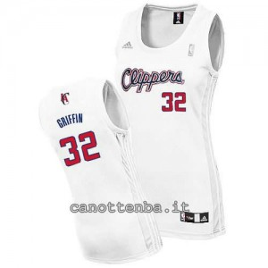 canotta donna blake griffin #32 los angeles clippers bianca