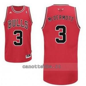 canotta doug mcdermott #3 chicago bulls revolution 30 rosso