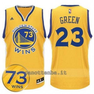 canotta draymond green #23 golden state warriors 73 wins 2016 giallo