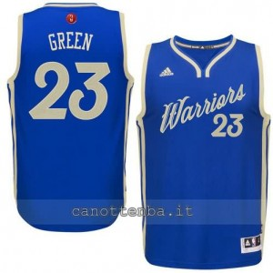 canotta draymond green #23 golden state warriors natale 2015 blu