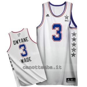 canotta dwyane wade #3 nba all star 2015 bianca