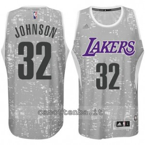 canotta earvin johnson #32 los angeles lakers lights grigio
