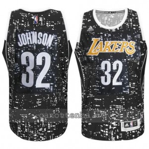 canotta earvin johnson #32 los angeles lakers lights nero