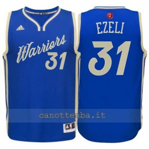 canotta festus ezeli #31 golden state warriors natale 2015 blu