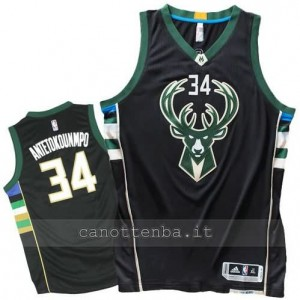 canotta giannis antetokoumpo #34 milwaukee bucks 2015-2016 nero