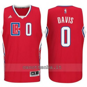 canotta glen davis #0 los angeles clippers 2015-2016 rosso