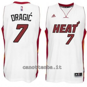 canotta goran dragic #7 miami heat 2014-2015 bianca