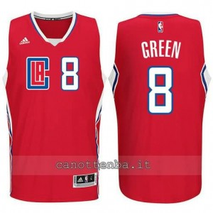 canotta jeff green #8 los angeles clippers 2015-2016 rosso