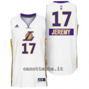 canotta jeremy lin #17 los angeles lakers natale 2014 bianca