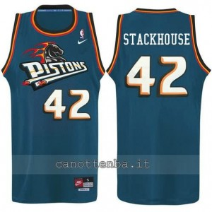 canotta jerry stackhouse #42 detroit pistons alternato
