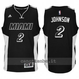 canotta joe johnson #2 miami heat 2014-2015 nero