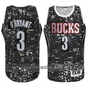 canotta johny o'bryant #3 milwaukee bucks lights nero