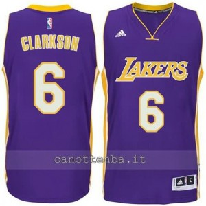 canotta jordan clarkson #6 los angeles lakers 2014-2015 porpora