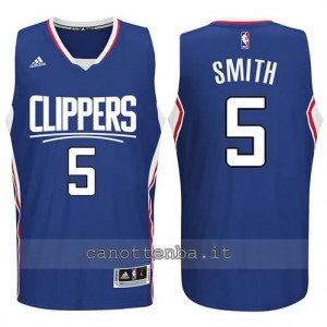 canotta josh smith #5 los angeles clippers 2015-2016 blu