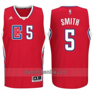 canotta josh smith #5 los angeles clippers 2015-2016 rosso