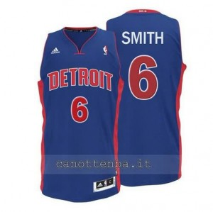 canotta josh smith #6 detroit pistons 2014-2015 blu