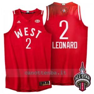 canotta kawhi leonard #2 nba all star 2016 rosso
