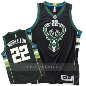 canotta khris middleton #22 milwaukee bucks 2015-2016 nero