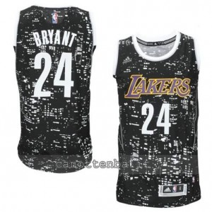 canotta kobe bryant #24 los angeles lakers lights nero