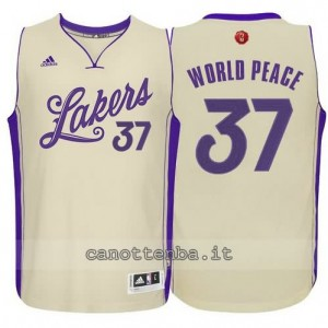 canotta metta world peace #37 los angeles lakers natale 2015 giallo